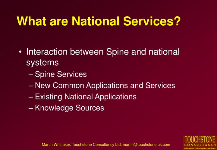What are national services