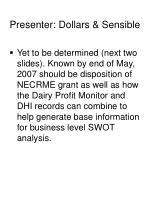 presenter dollars sensible
