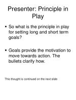 presenter principle in play