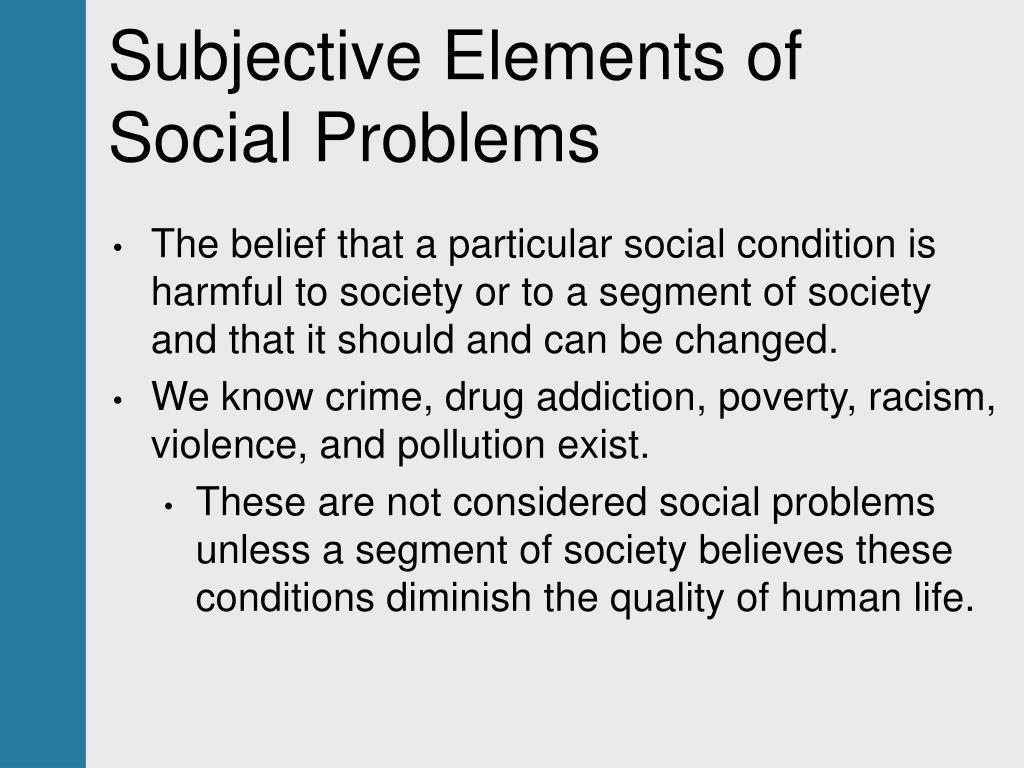 PPT - Understanding Social Problems PowerPoint Presentation