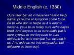 middle english c 1380