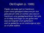 old english c 1000
