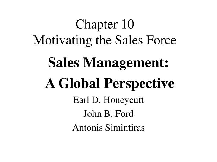chapter 10 motivating the sales force n.