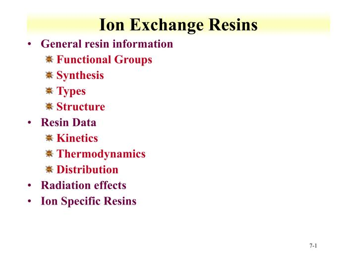 ion exchange resins n.