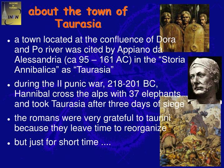 About the town of taurasia