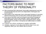 factors basic to rebt theory of personality