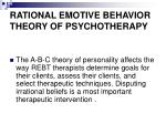 rational emotive behavior theory of psychotherapy