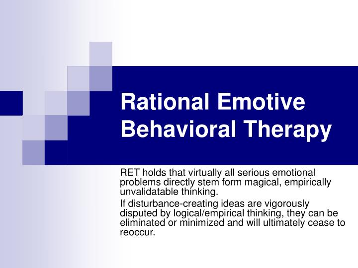 rational emotive behavioral therapy n.