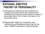 rational emotive theory of personality