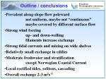 outline conclusions