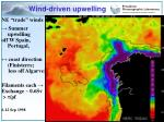 wind driven upwelling
