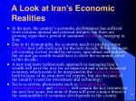 a look at iran s economic realities
