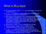 what is buy back