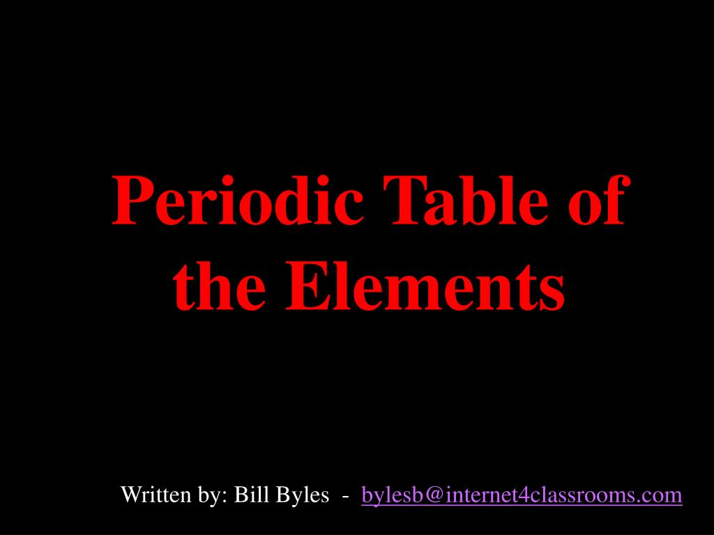periodic table of the elements l.