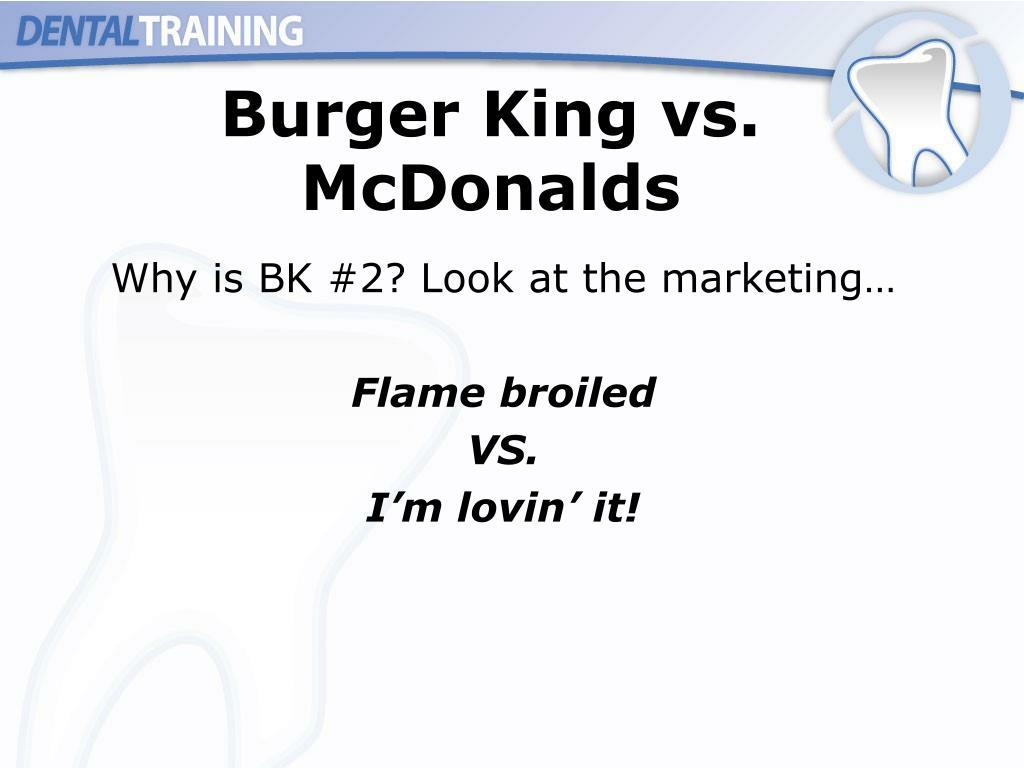 Burger King vs. McDonalds