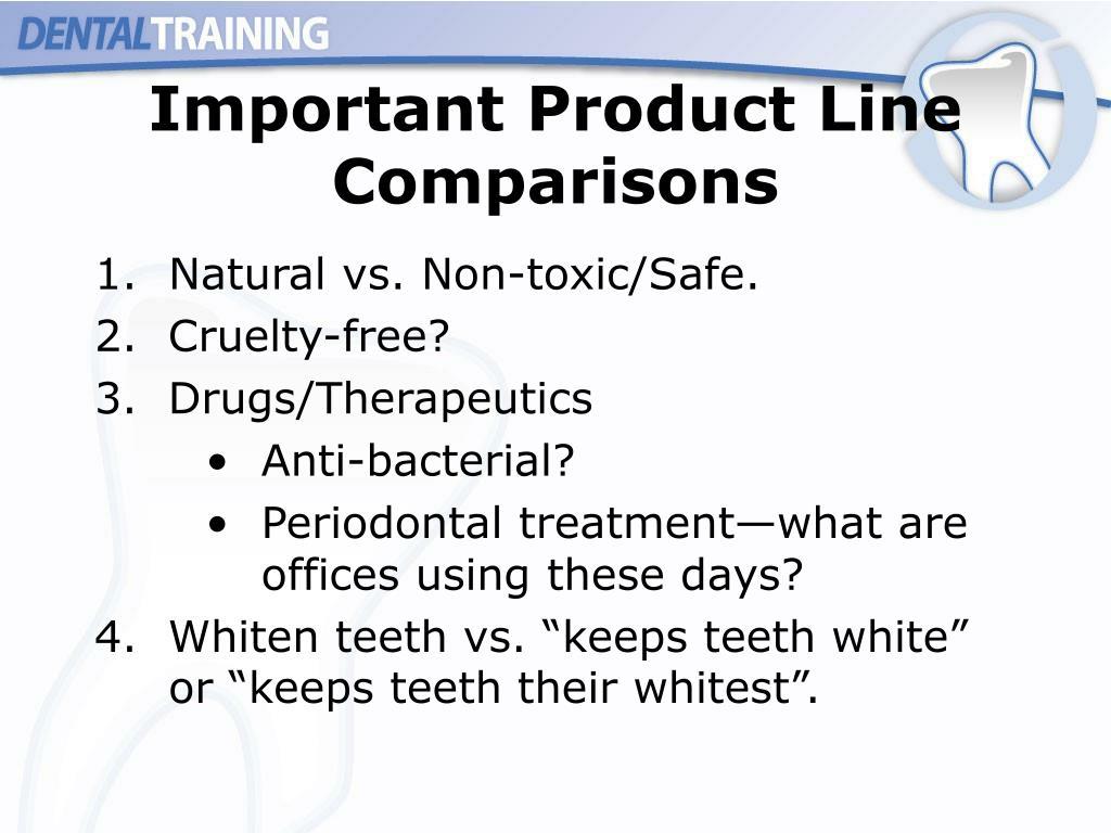 Important Product Line Comparisons