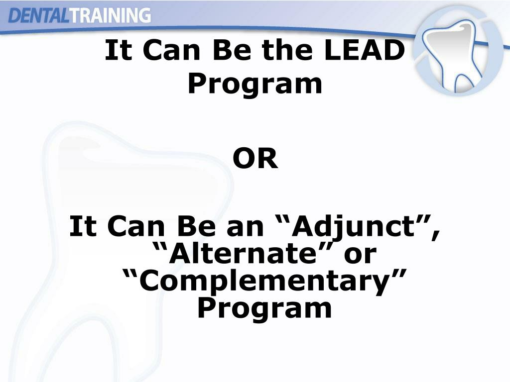 It Can Be the LEAD Program