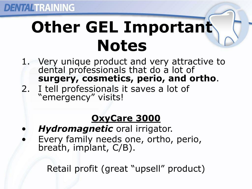 Other GEL Important Notes