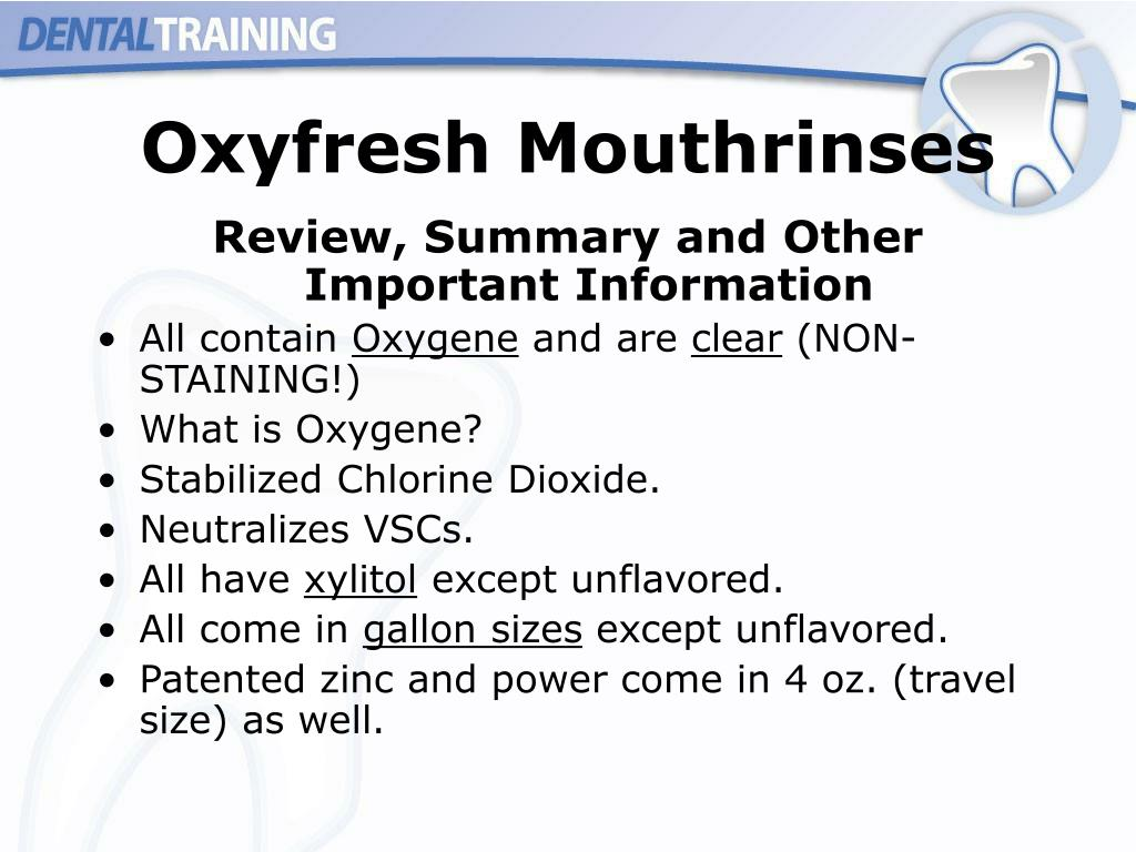 Oxyfresh Mouthrinses