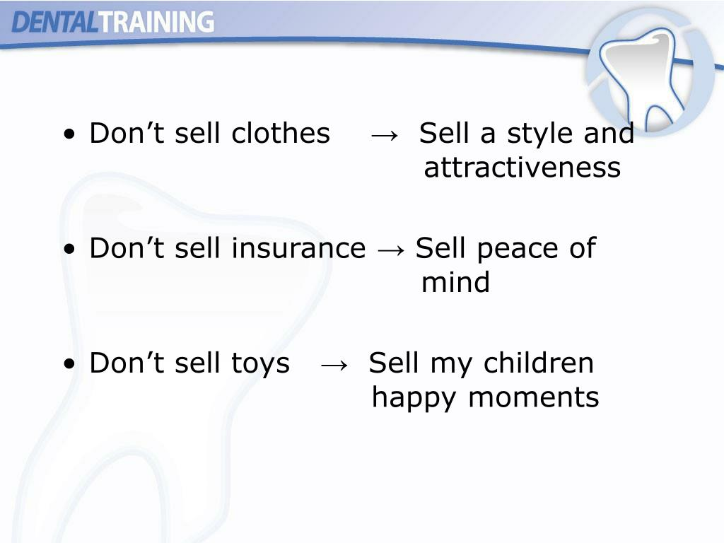 Don't sell clothes    →  Sell a style and attractiveness