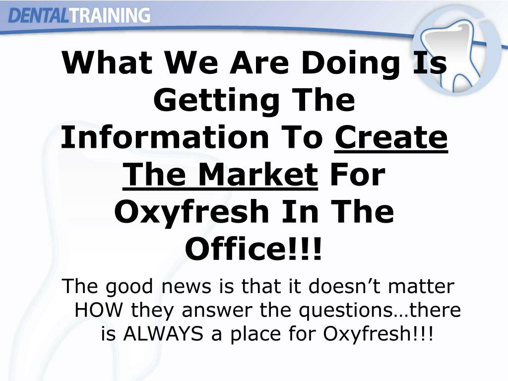 What We Are Doing Is Getting The Information To