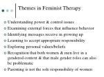 themes in feminist therapy