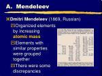 a mendeleev