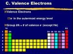c valence electrons