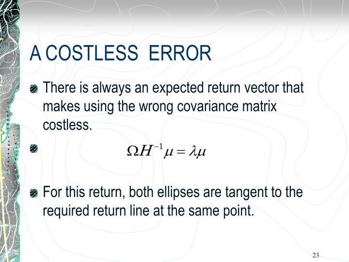 how to find the expected return with the covariance