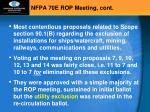 nfpa 70e rop meeting cont2