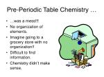 pre periodic table chemistry