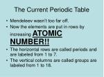 the current periodic table