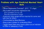 problems with age predicted maximal heart rate