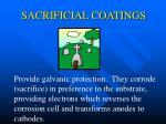 sacrificial coatings