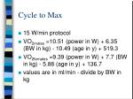 cycle to max