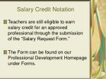 salary credit notation