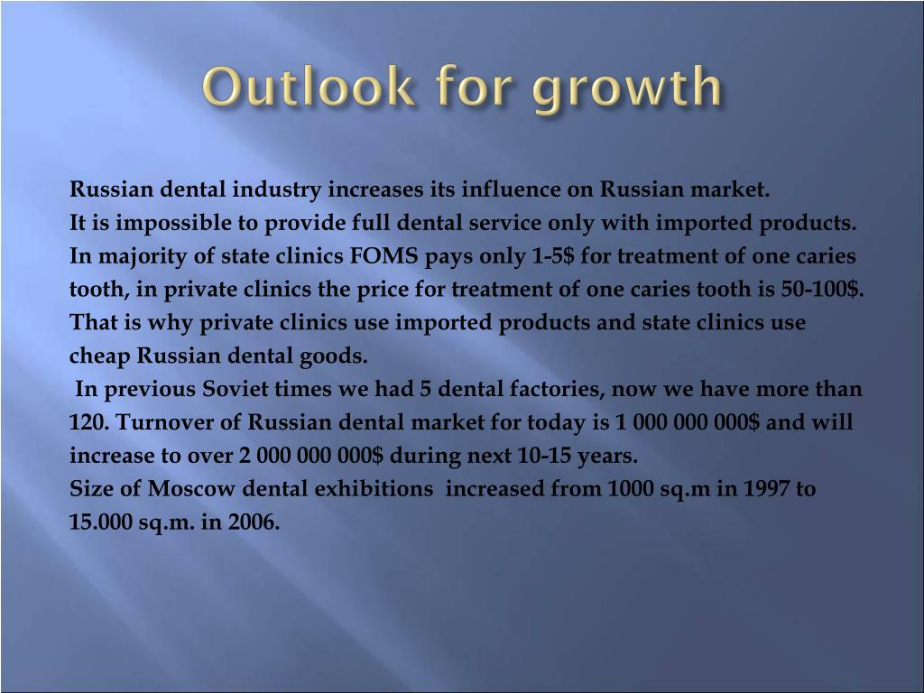 Outlook for growth
