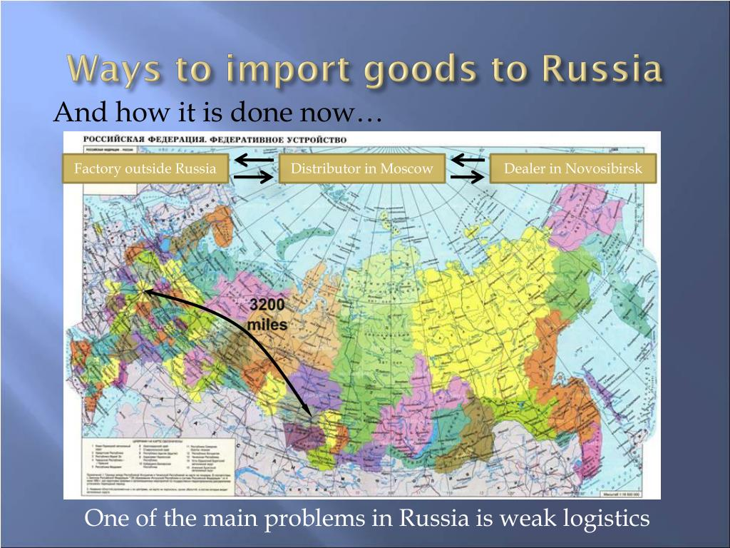 Ways to import goods to Russia