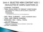 unit 4 selected new content aos 1 highlighted by sample questions 2
