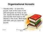 organizational acrostic