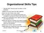 organizational skills tips