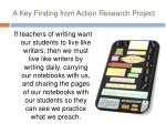 a key finding from action research project