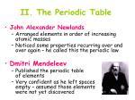 ii the periodic table