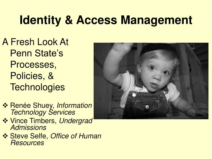 identity access management n.