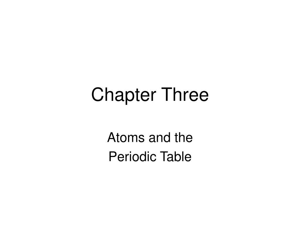 chapter three l.