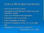 cultural blind spot syndrome