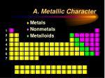 a metallic character12