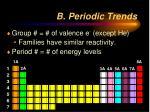 b periodic trends