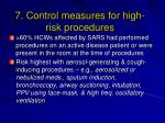 7 control measures for high risk procedures