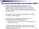 accounts receivable conversion arc